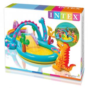 Centru de joaca cu piscina Intex Dinoland 333x229x112 cm5