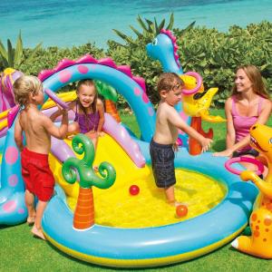 Centru de joaca cu piscina Intex Dinoland 333x229x112 cm1