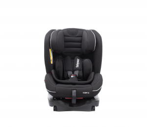 Scaun auto BABYAUTO INFINITY Fix, Dual Isofix, 0-36 kg, catarama cu alarma, Negru/Gri6