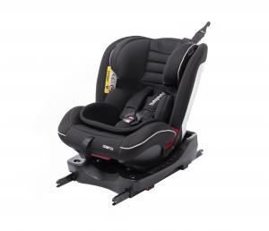 Scaun auto BABYAUTO INFINITY Fix, Dual Isofix, 0-36 kg, catarama cu alarma, Negru/Gri2