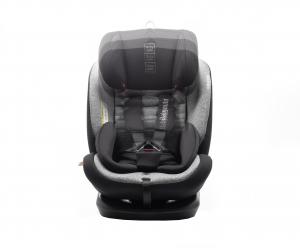 Scaun auto BABYAUTO VOLTA, Isofix, rotatie 360 grade, 0-36 kg, Negru/Gri6