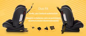 Scaun auto BABYAUTO G-CAT, Duo Fit, Isofix sau centura vehicul, 9-36 kg, Negru14