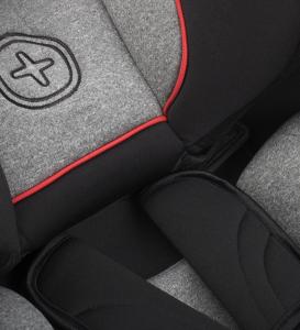 Scaun auto BABYAUTO MORE LENNOX, Isofix, rotatie 360 grade, picior suport, 0-18 kg, Gri/Rosu10