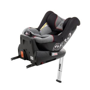 Scaun auto BABYAUTO MORE LENNOX, Isofix, rotatie 360 grade, picior suport, 0-18 kg, Gri/Rosu9