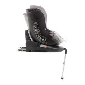 Scaun auto BABYAUTO MORE LENNOX, Isofix, rotatie 360 grade, picior suport, 0-18 kg, Gri/Rosu8