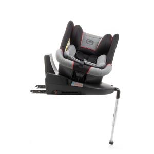 Scaun auto BABYAUTO MORE LENNOX, Isofix, rotatie 360 grade, picior suport, 0-18 kg, Gri/Rosu6