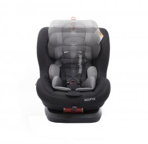 Scaun auto BABYAUTO BIRO Fix, Isofix, rotatie 360 grade, 0-25 kg, Negru/Gri8