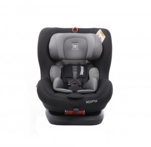 Scaun auto BABYAUTO BIRO Fix, Isofix, rotatie 360 grade, 0-25 kg, Negru/Gri6