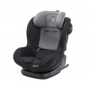 Scaun auto BABYAUTO BIRO Fix, Isofix, rotatie 360 grade, 0-25 kg, Negru/Gri12