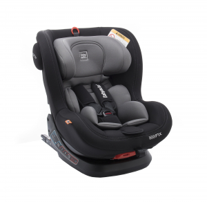 Scaun auto BABYAUTO BIRO Fix, Isofix, rotatie 360 grade, 0-25 kg, Negru/Gri0