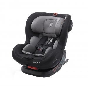 Scaun auto BABYAUTO BIRO Fix, Isofix, rotatie 360 grade, 0-25 kg, Negru/Gri4