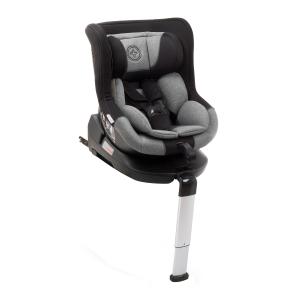 Scaun auto BABYAUTO MORE LENNOX, Isofix, rotatie 360 grade, picior suport, 0-18 kg, Negru/Gri [0]