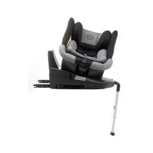 Scaun auto BABYAUTO MORE LENNOX, Isofix, rotatie 360 grade, picior suport, 0-18 kg, Negru/Gri6