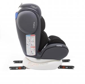 Scaun auto BABYAUTO MORE WERDU PLUS, Dual Isofix, 0-36 kg, Gri/Negru8