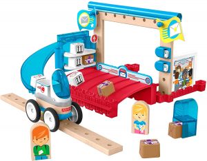 Set constuctie Fisher-Price Wonder Makers Special Delivery Depot 35 piese0