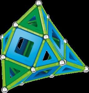 Set de construcie magnetic Geomag, Green Line Classic Panel, 114 piese3