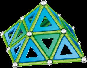 Set de construcie magnetic Geomag, Green Line Classic Panel, 114 piese1