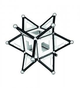 Set de constructie magnetic Geomag Black&White 104 piese2
