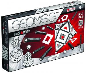 Set de constructie magnetic Geomag Black&White 104 piese0