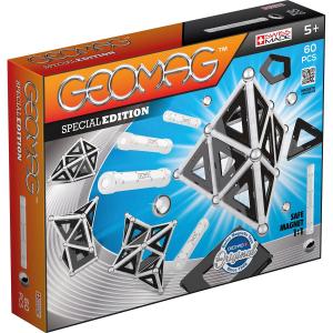 Set de constructie magnetic Geomag Editie Speciala Black&White 60 piese0