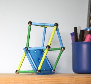 Set de constructie magnetic Geomag color 35 piese2