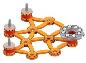 Set de constructie magnetic Geomag Editie Speciala Leonardo da Vinci Tun Magnetic 266 piese2