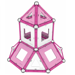 Set de constructie magnetic Geomag Pink 104 piese4