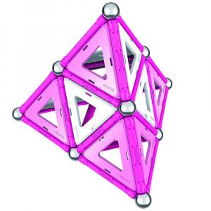 Set de constructie magnetic Geomag Pink 104 piese3