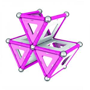 Set de constructie magnetic Geomag Pink 104 piese2