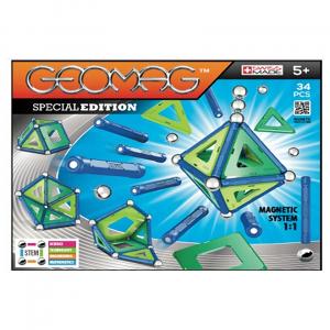 Set de constructie magnetic Geomag Editie Speciala 34 piese0