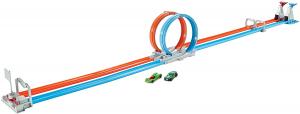 Set de joaca Hot Wheels Double Loop, 2 masinute incluse [0]