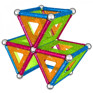 Set de constructie magnetic Geomag Glitter 68 piese [3]