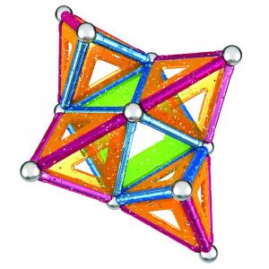 Set de constructie magnetic Geomag Glitter 68 piese [4]