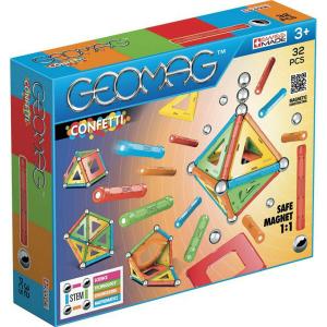 Set de constructie magnetic Geomag Confetti 32 piese0