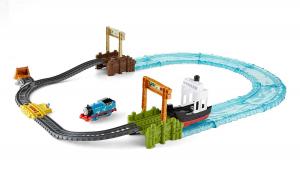Set sine si locomotiva Thomas & Friends Boat and Sea0