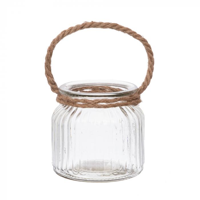 Vas sticla cu funie detalii verticale [0]