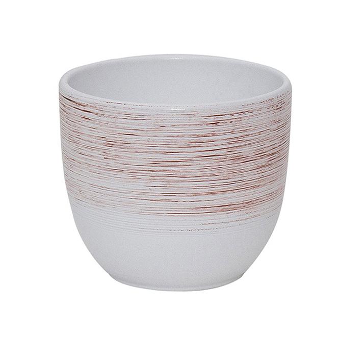 Ceramica 12 cm alb cu striatii [0]