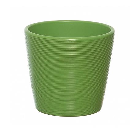 Vas ceramica verde conic 12 cm [0]