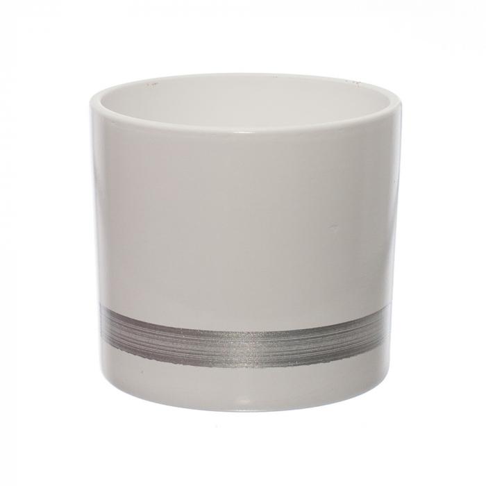 Ceramica 12 cm alb-silver [0]