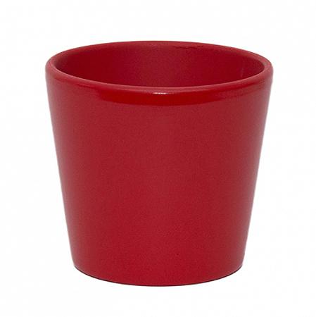 Vas ceramica rosu conic 13,5 cm [0]