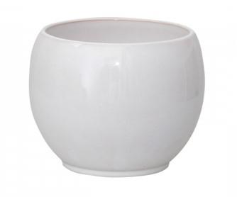 Vas ceramica bol alb 15 cm [0]