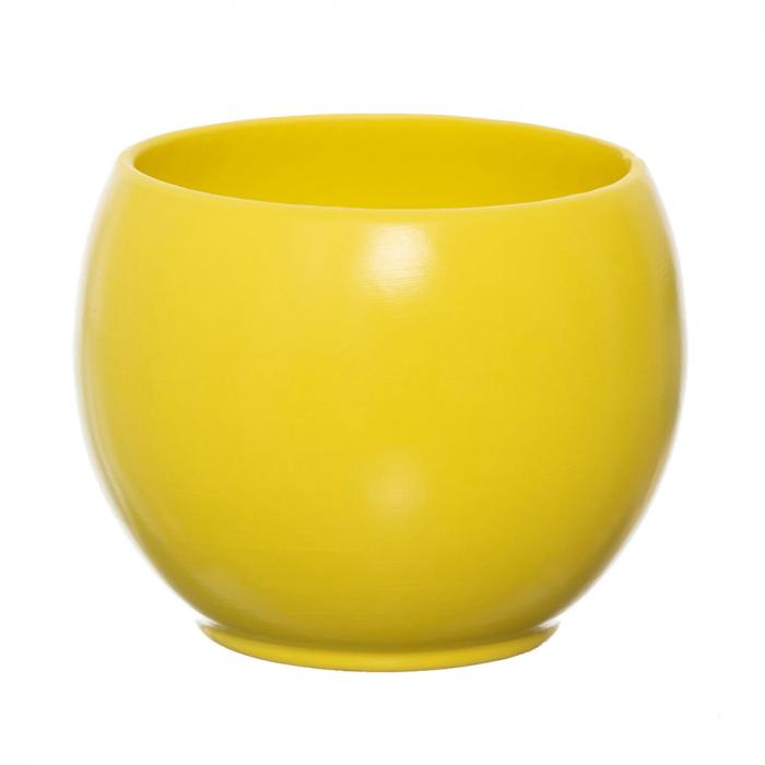 Vas ceramica bol galben 15 cm [0]