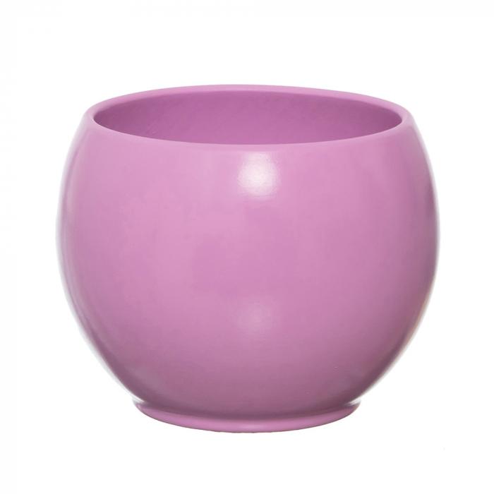 Vas ceramica bol lila 15 cm [0]