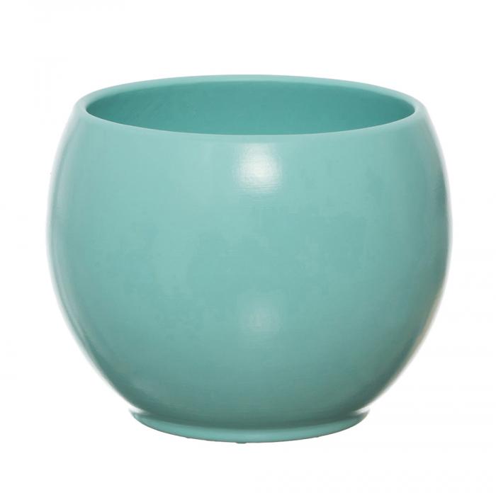 Vas ceramica bol turcoaz 15 cm [0]
