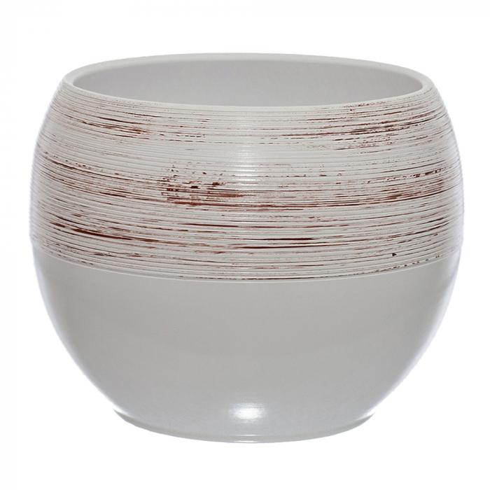 Ceramica 25 cm alb cu striatii [0]