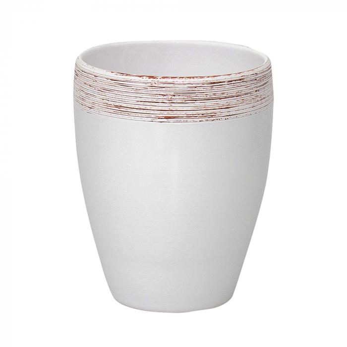 Ceramica orhidee alb cu striatii [0]