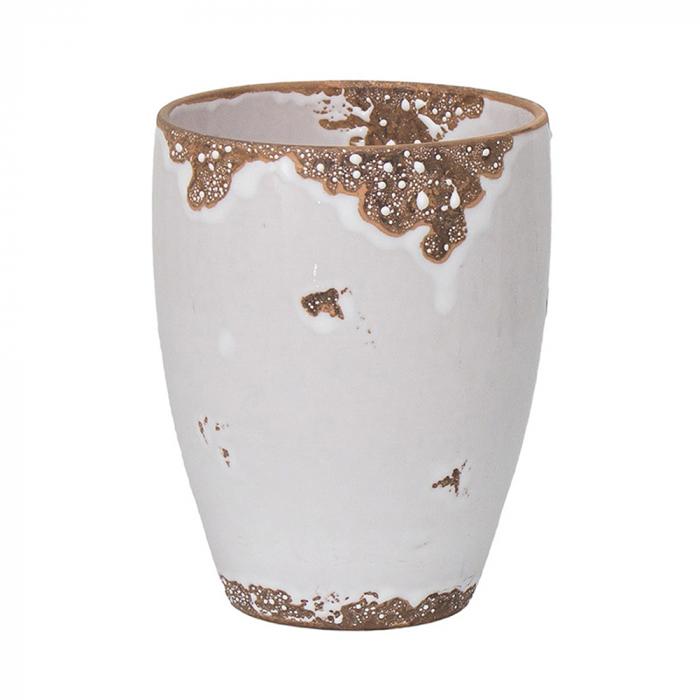 Ceramica orhidee alb vintage [0]