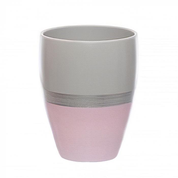 Ceramica orhidee roz cu dunga argintie [0]
