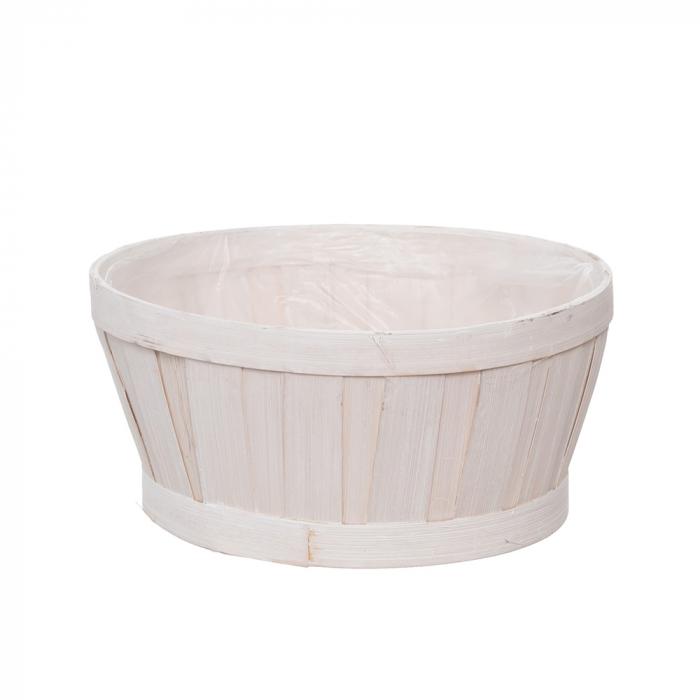 Cos bamboo alb 23 cm [0]