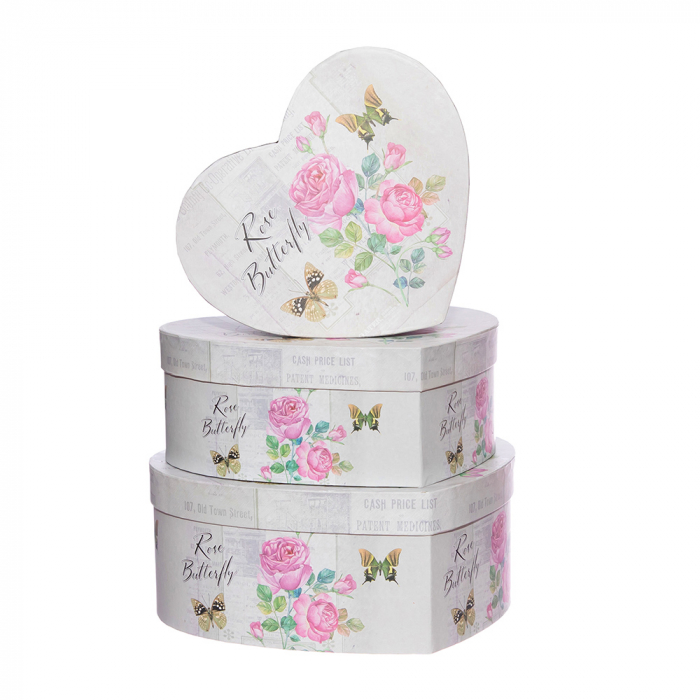 Cutii inima rose butterfly [0]